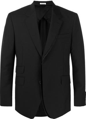 Alexander McQueen Pinstripe Panelled Suit Jacket