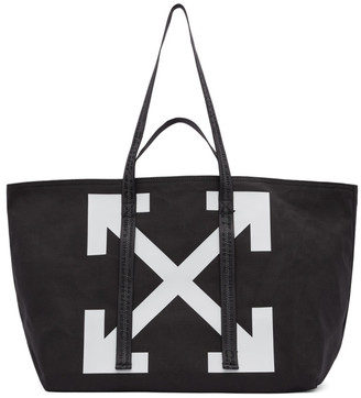 Off-White Black Canvas Arrows Commercial Tote