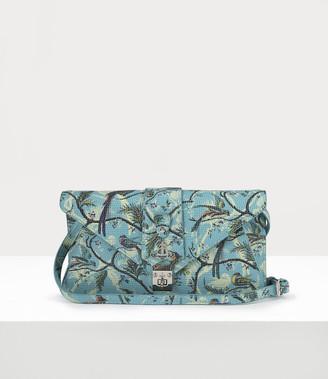 Vivienne Westwood Blue Dolce Envelope Clutch Bird Of Paradise Print