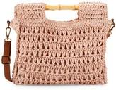 Saks Fifth Avenue Marabelle Braided Straw Crossbody Bag