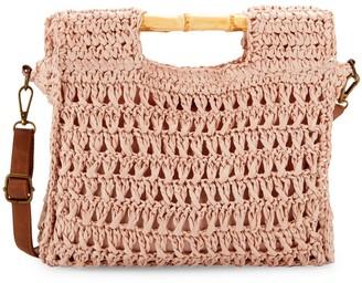 Saks Fifth Avenue Braided Straw Crossbody Bag