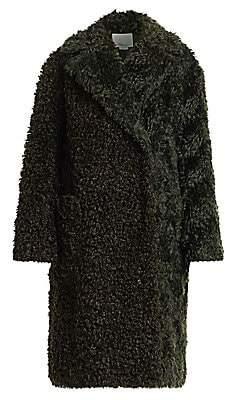 3.1 Phillip Lim Women's Faux Shearling Mohair Coat
