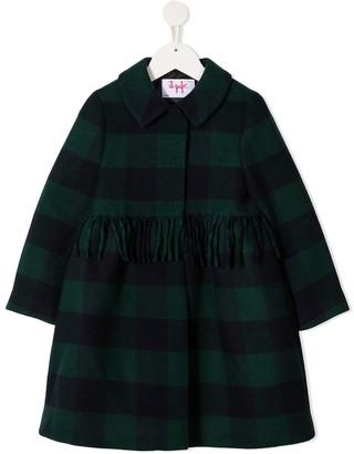 Il Gufo Tartan Wool Coat With Skirt