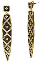 Freida Rothman Women's 14ct Gold Plated Sterling Silver Geometric Stripe Spear Drop Earrings