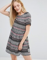 Vero Moda Super Easy Skater Dress In Boho Print