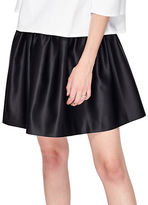 Miss Selfridge Satin Skater Skirt