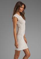 RVN Mini Tattoo Lace Jacquard Dress in White/Nude