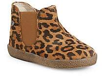 Naturino Baby's & Little Girl's Falcotto Leopard Suede Chelsea Boots