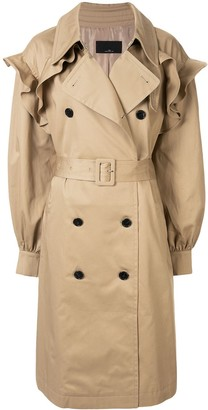 J Koo Double-Breasted Trench Coat
