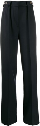 Cédric Charlier high-rise pleated trousers