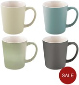 La Cafetiere Set Of 4 Latte Mugs