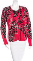 Escada Wool & Silk Leopard Cardigan Set w/ Tags