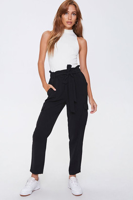 Forever 21 Paperbag Tie-Waist Ankle Pants