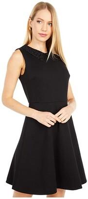 Kate Spade Lace Collar Ponte Dress (Black) Women's Dress