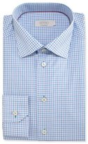 Eton Contemporary-Fit Check Dress Shirt, Aqua