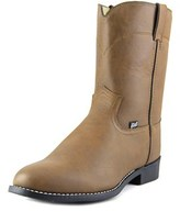 "Justin 10"" Ropers Round-toe Round Toe Leather Western Boot."