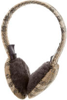 Burberry Wool Nova Check Earmuffs