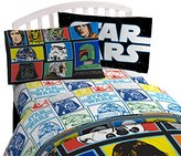 "Star Wars Classic 'Grid 2' Black/White/Blue 20"" x 30"" Pillowcase"