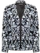 Select Fashion Fashion Womens Black Silhouette Print Soft Jacket - size 6