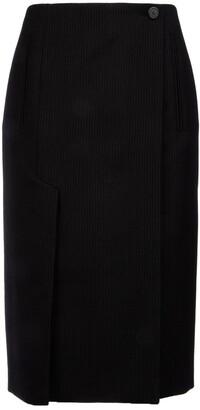 Prada Pinstripe Midi Skirt