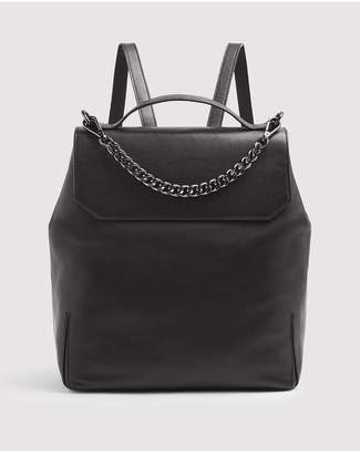 7 For All Mankind Leather Backpack In Black