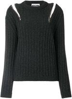 Moschino zip detail jumper