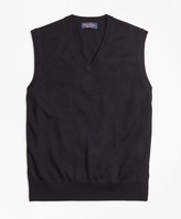 Brooks Brothers Saxxon Wool Sweater Vest