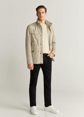 MANGO MAN - Technical field jacket beige - S - Men