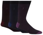 J By Jasper Conran Pack Of Three Assorted Fine Stripe Socks