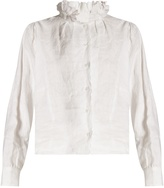 Etoile Isabel Marant Delphine ruffled high-neck blouse