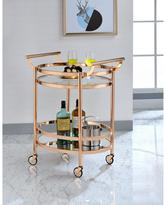 Acme Lakelyn Clear Glass and Rose Gold Serving Cart