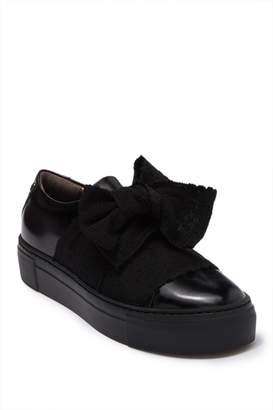 Attilio Giusti Leombruni Leather Bow Platform Sneaker