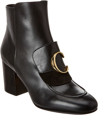 Chloé C Laurena Leather Bootie