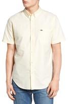 Lacoste Men's Regular Fit Short Sleeve Oxford Woven Shirt