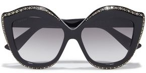 Gucci Oversized Butterfly-frame Embellished Acetate Sunglasses