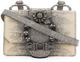 Miu Miu flap encrusted shoulder bag