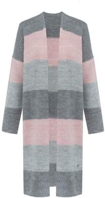 You By Tokarska Long Striped Cardigan Pink