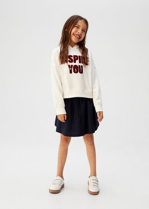 MANGO Message zipped hoodie