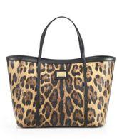 Dolce & Gabbana Leopard-Print Coated Canvas Tote