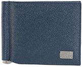Dolce & Gabbana Blue Dauphine Leather Wallet