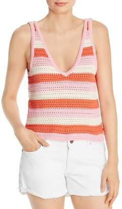 WAYF Gemma Crochet Striped Tank