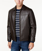 Izod Leather Bomber Jacket