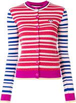 Kenzo striped Tiger cardigan - women - Cotton/Wool - M