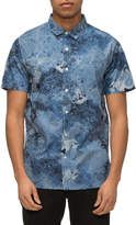 Tavik Porter Print Poplin Short Sleeve Signature Fit Woven Shirt