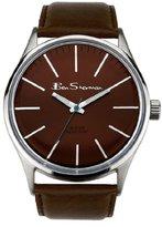 Ben Sherman Men's Quartz Watch with Brown Dial Analogue Display and Brown PU Strap R930