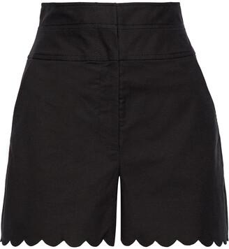 Rebecca Taylor Scalloped Cotton-blend Shorts