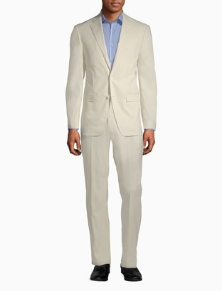 Calvin Klein Slim Fit Linen Blend Suit Jacket