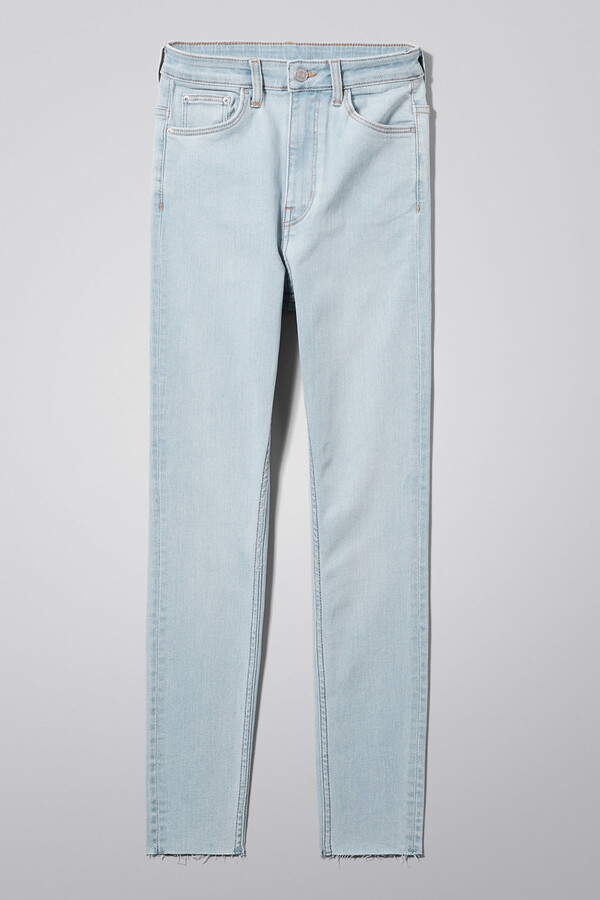 Thumbnail for your product : Weekday Body High Light Cut Off Jeans - Blue