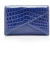 Bottega Veneta Cocco Fume Crocodile Clutch