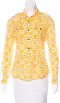 Tory Burch Printed Button-Up Top w/ Tags